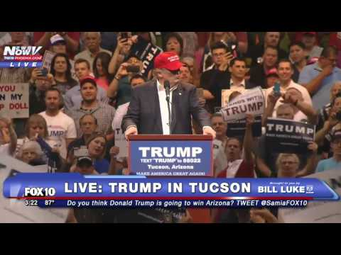FULL: Donald Trump Rally in Tucson, AZ Featuring Jan Brewer and Sheriff Joe Arpaio - FNN