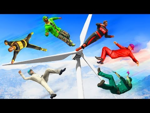 WINDMILL VS PEOPLE VOLLEYBALL! (GTA 5 Funny Moments)