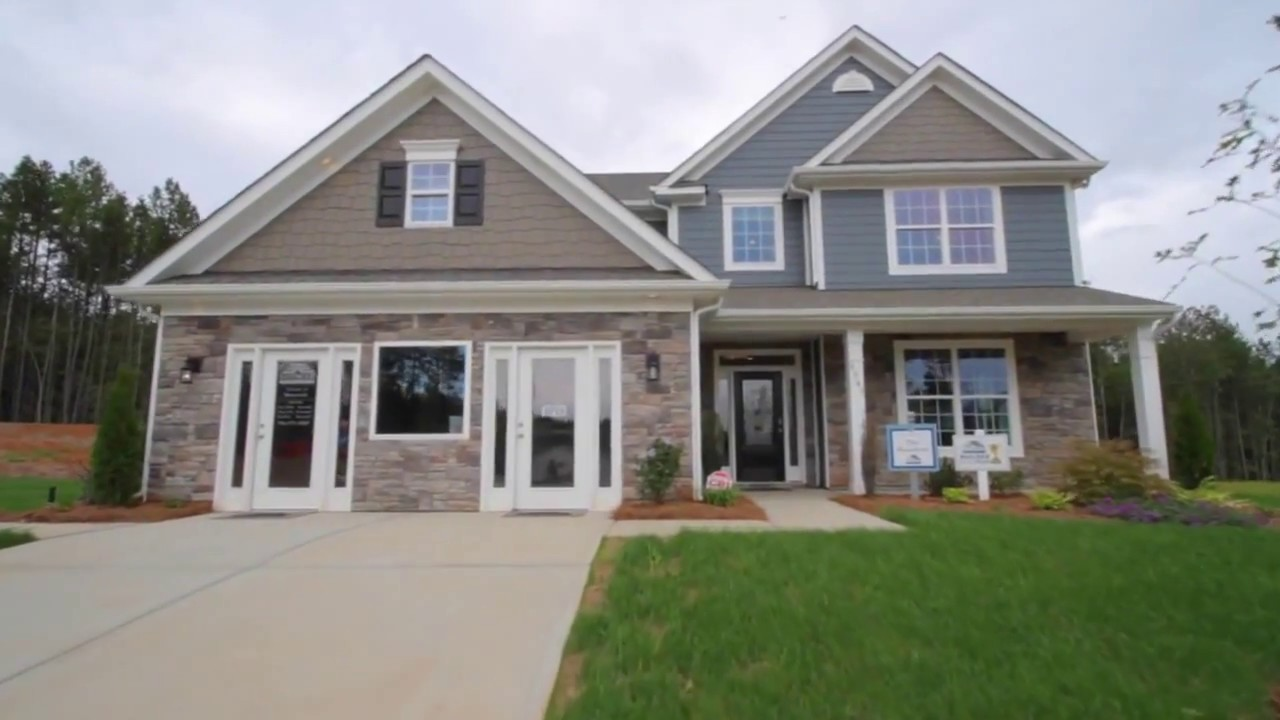 The Hamilton New Homes In Charlotte Nc Berewick Youtube