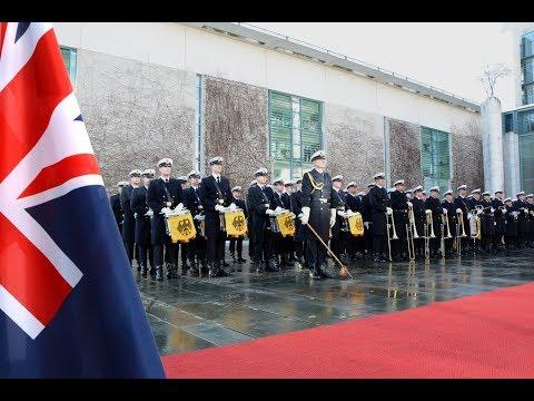 Ehrenkompanie - Militärische Ehren für Bill English, Premierminister Neuseelands