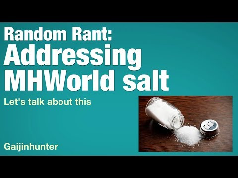 Monster Hunter World: Announcement Salt