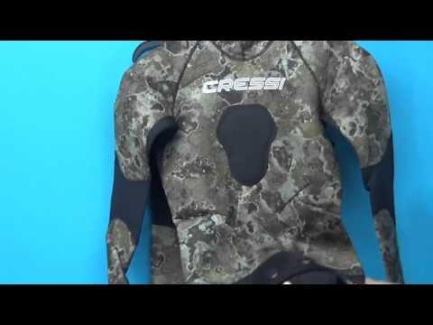2016 Cressi Sub Tecnica Wetsuit Camouflage Camo 2 Piece Spearfishing |  PleasureSports.com
