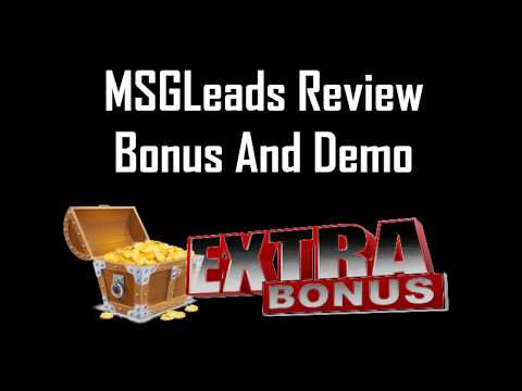 MSGLeads by Brad Stephens Review - MSGLeads Bonus And Demo