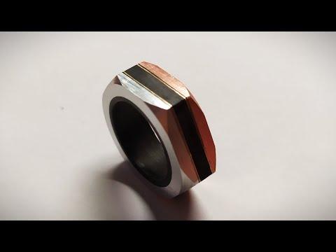 Tornitura Anello Esagonale Rame/Alluminio
