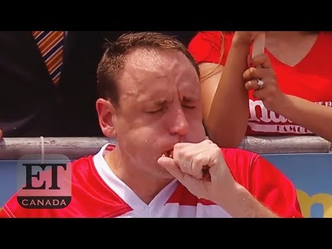 Joey Chestnut Eats Record 74 Hot Dogs