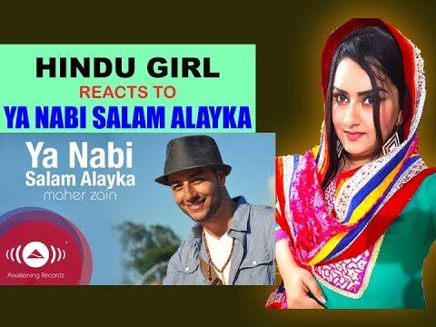 Hindu Girl Reacts To YA NABI SALAM ALAYKA - MAHER ZAIN International Version | REACTION |