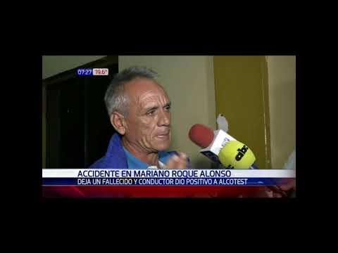 Accidente en Mariano Roque Alonso deja un muerto y una persona herida