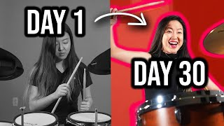 I Tried to Leąrn How to Play the Drums in 30 Days