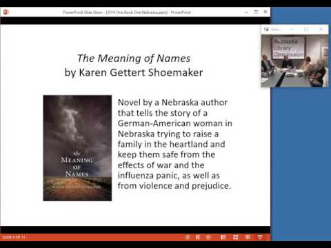 NCompass Live: 2016 One Book One Nebraska: The Meaning of Names