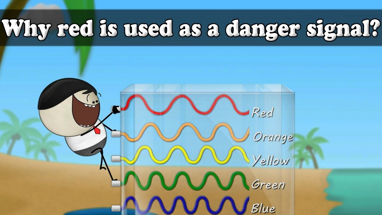 a901234660576 Wavelength - Why red is used as a danger signal? | #aumsum - YouTube