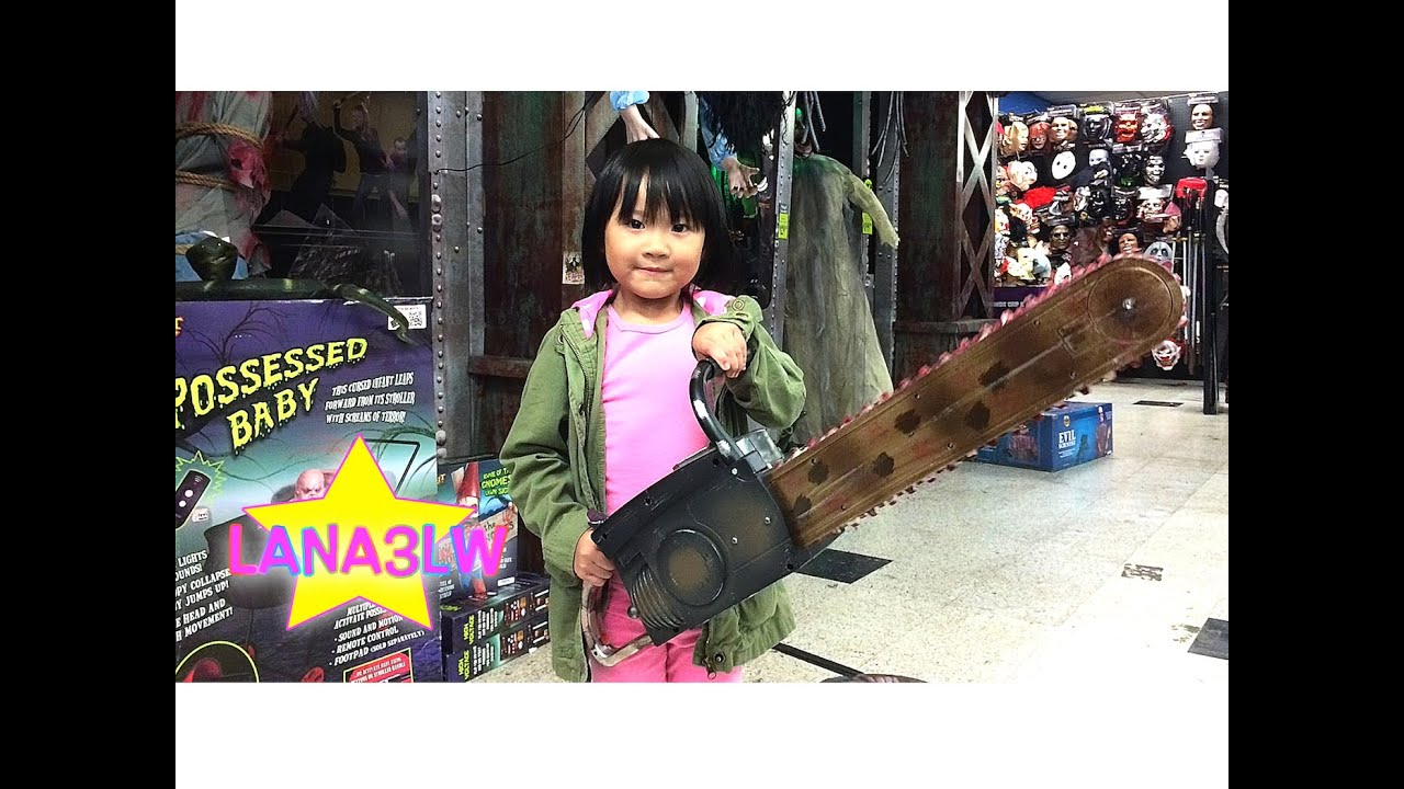 popular halloween chainsaw prop at the spirit store lana3lw