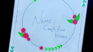 Border designs | Project work design | Bullet Journal | Borders for projects | Front page designs