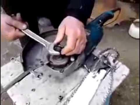 видео: Как сделать из болгарки бензопилу
