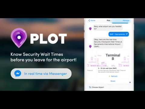 Plot Airport Security Wait Times Facebook Chatbot
