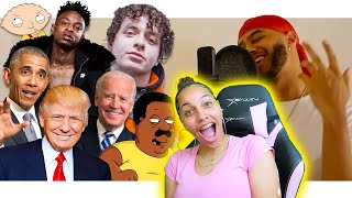 AZERRZ: WHATS POPPIN bỳ Jack Harlow IN VOICE IMPRESSIONS! | 21 Savage, Biden, Trump Reaction