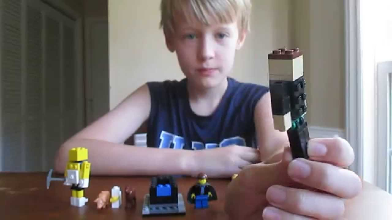 Custom Lego Minecraft Characters Including Stampy Long Nose And Diamond Minecart