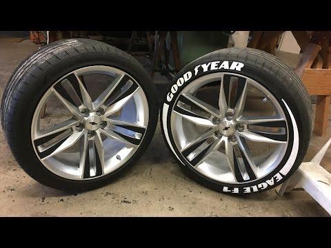 Tire Sticker Install - Good Year Eagle F1