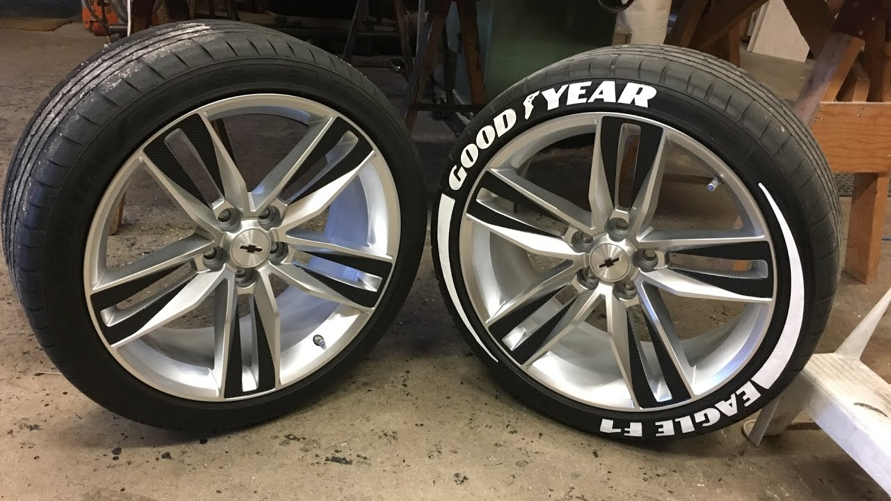 Tire Sticker Install Good Year Eagle F1 Youtube