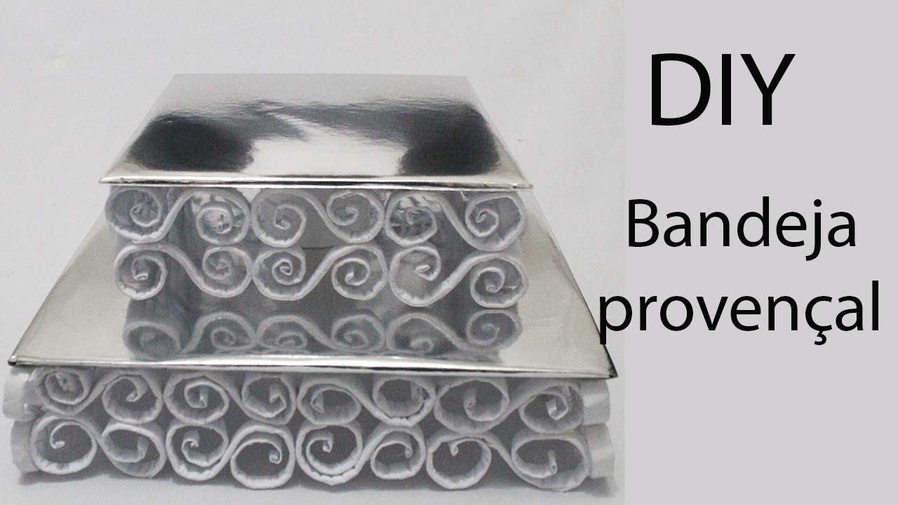Conhecido Como fazer bandeja provençal de papel e papelão - YouTube PD09