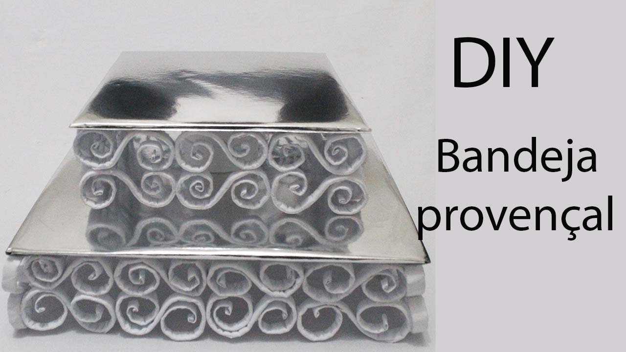 Como fazer bandeja provenal de papel e papelo  YouTube