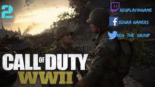 CALL OF DUTY WW2 - Misión 2 Operación Cobra Gameplay Español XBOX ONE S/(Experto)/REG