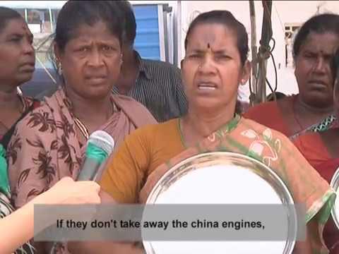 Kasimedu Fisherman Agitation In Tamil Nadu Against High Speed Chinese Engines.