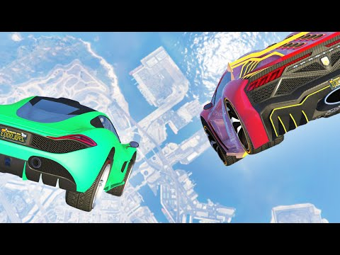 BIGGEST GTA SKY DROP! (GTA 5 Funny Moments)