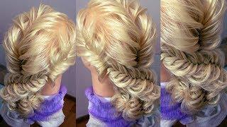Причёска из кос. Низкий пучок. Видео-урок. Hair tutorial.