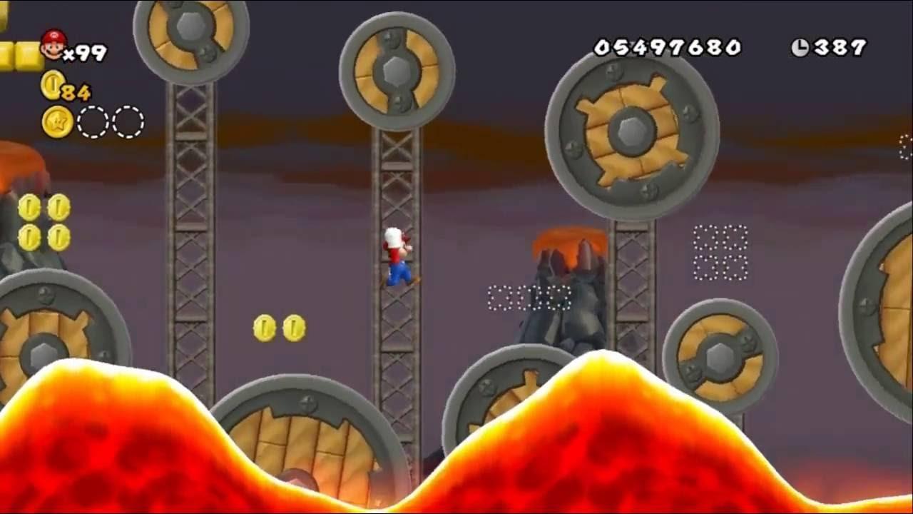 Newer Super Mario Bros Wii World 8 4 Molten Airship Youtube