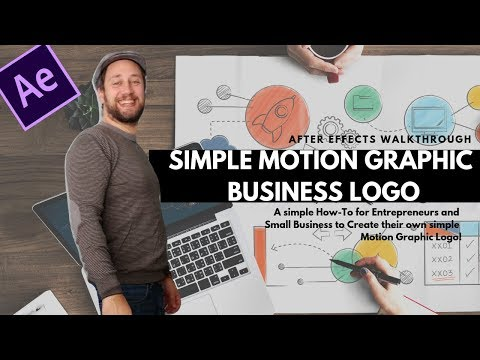 Simple Motion Graphic Logo for Business with After Effects thumbnail