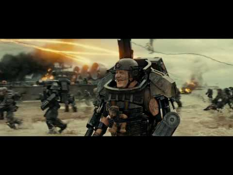Edge of tomorrow (2014) -  Day one (First battle scene) - Part 1 [1080p]