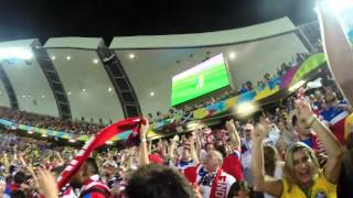 clint dempsey usa goal vs ghana 2014 crowd view reaction