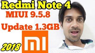 Xiaomi Redmi Note 4 getting Miui 9.5.8 Stable Update | No Oreo