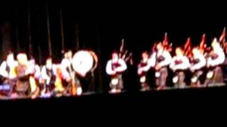 Madison Pipes and Drums onstage with the Chieftains at the Overture...