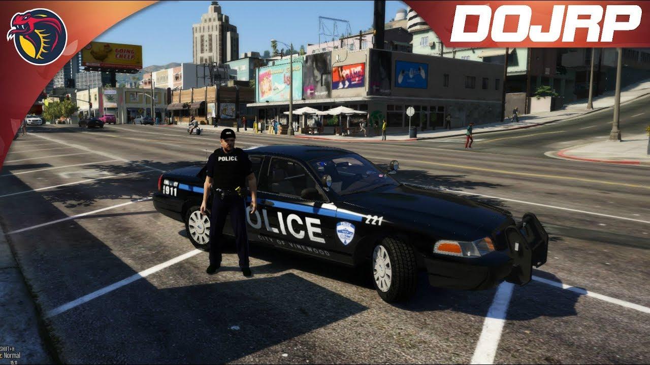 🚨🚔GTA 5 RolePlay | DOJRP ON PATROL EP 34: Officer Down!🚔🚨