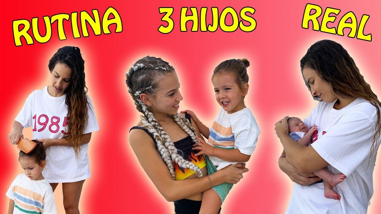 RUTINA DE MAÑANA CON 3 HIJOS EN VACACIONES DE VERANO 100% REAL / Familia Amiguindy