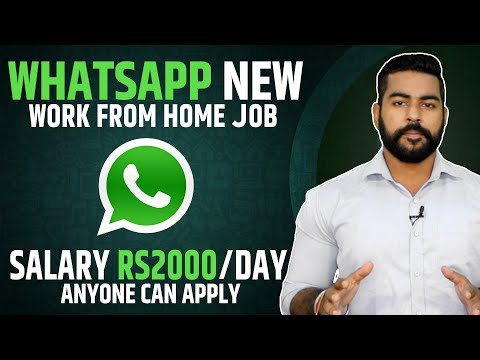 Whatsapp New Work From Home Job India | Salary 2000/Day? | Easy Part Time Job | Anyone Can Apply !