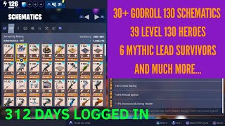 My Legendary Perked Schematics, Heroes And More! Abdulwarrior's Account - Fortnite Save The World