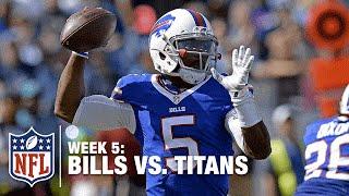 Tyrod Taylor Throws a BOMB to WR Chris Hogan for a 46-Yard Gain!  Bills vs. Titans | NFL