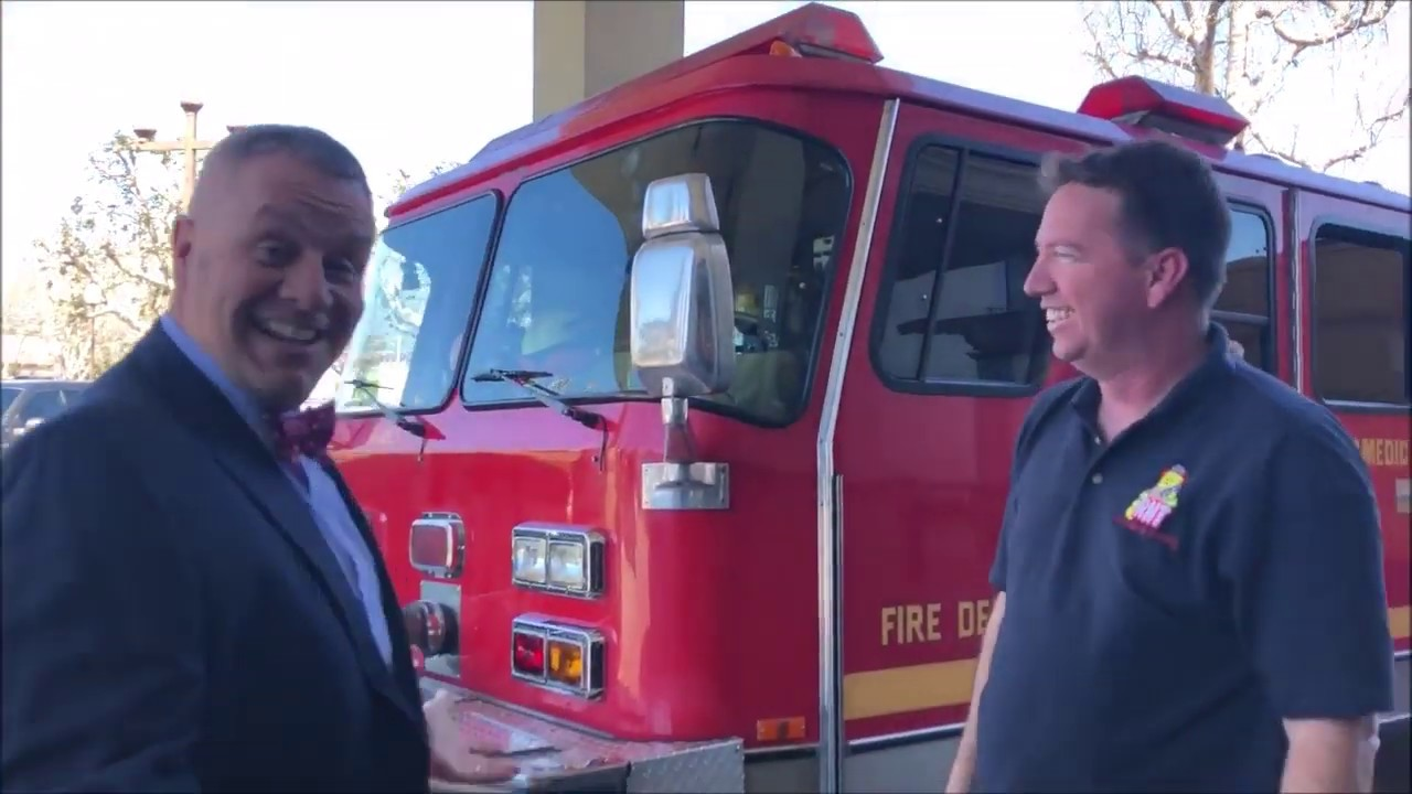 Firefighters in Fire Trucks getting Ice Cream - Emanuel Part 1