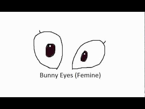 Cartoon Drawing Bunny Eyes Femine Female Bunny Rabbit Youtube