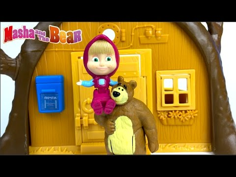 Thumbnail: UNBOXING MASHA AND THE BEAR - BEAR'S HOUSE A PORTABLE PLAYSET & STORY WITH MASHA SCARED OF LIGHTNING
