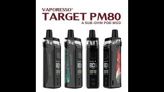 Vaporesso Target Pm80 4 coİlli cihaz incelemesi ve kurulumu Buharkeyf alındı !!!