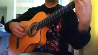 "Ozzy Osbourne ""Bark at the Moon"" (acoustic) Ben Woods flamenco guitar"