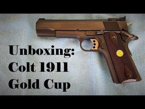Un-boxing; Colt 1911 Gold Cup National Match Series 70