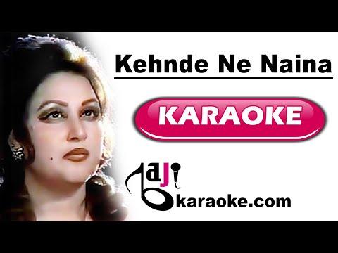 Kehnde ne naina - Video Karaoke - Noor Jahan - by Baji Karaoke