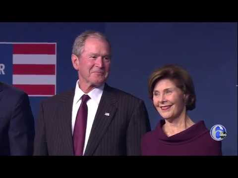 Former President George W. Bush and former First Lady Laura Bush receive the 2018 Liberty Medal