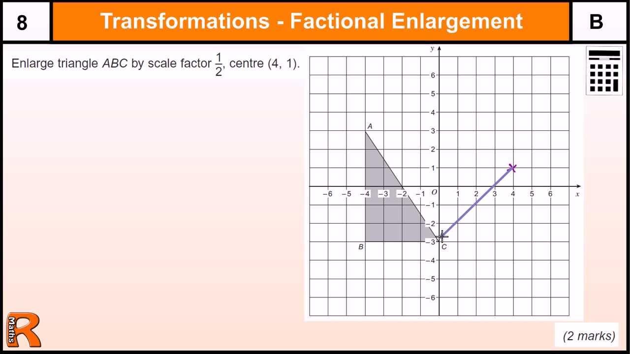 worksheet Transformation Enlargement Worksheet enlargement with fractional scale factor gcse maths revision exam paper practice help