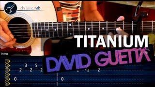 Como tocar Titanium - DAVID GUETTA - en Guitarra Acustica (HD) Tutorial