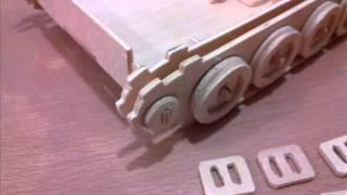 танк из фанеры (3D пазл) - Tank made of plywood (3D jigsaw)
